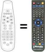 Replacement remote control PANASAT SRD 520