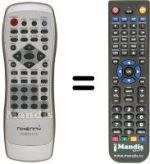 Replacement remote control NIKENNY DVD S151 S