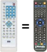 Replacement remote control BIOSTEK XE-220 PRO