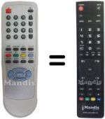 Replacement remote control CANCA 14 N 8 D