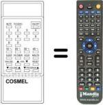 Replacement remote control Cosmel CTV141