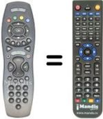 Replacement remote control FRANCE TELECOM MALIGNETV