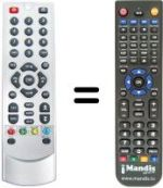 Replacement remote control FAVAL MERCURYS100
