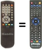 Replacement remote control Home Electronics CT1405