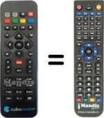 Replacement remote control TIM TIMVISION