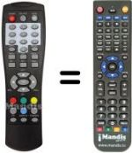 Replacement remote control MPMAN DVB-T2004