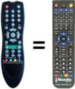 Replacement remote control FAIR MATE 5500FTA