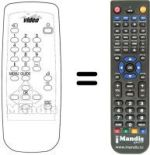 Replacement remote control ITALTEL SMB1900