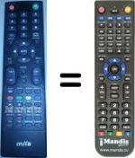 Replacement remote control MIIA MTV-32 DLE HD
