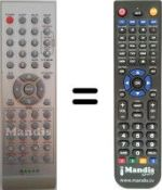 Replacement remote control Moove TV 155