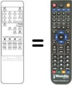 Replacement remote control Teknant 9363 TXT-14'