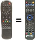 Replacement remote control MAGIKE MGK 4000 CI