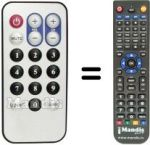 Replacement remote control ADDON DTV-2 GO